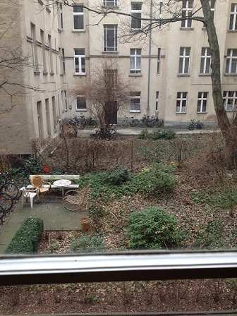 Berlin Kreuzberg Garten vom Monteurzimmer