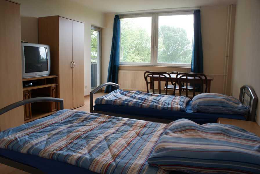 Schlafzimmer Monteurwohnung Neuss