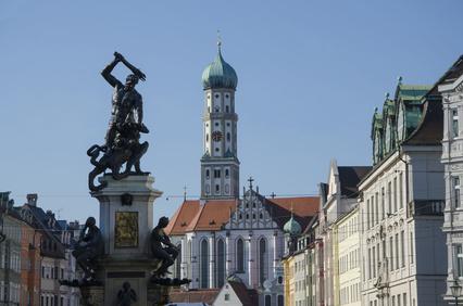 Unterkunft bei Augsburg Herkulesbrunnen