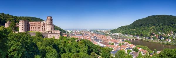 Unterkunft bei Heidelberg Panorama mit Schloss