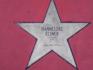 Star of fame Hannelore Elsner