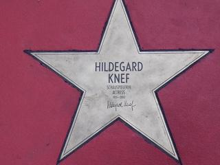 Star of fame Hildegard Knef