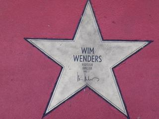 Star of fame Wim Wenders